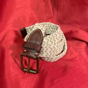 Fossil 90/36 Braided Genuine Leather Belt